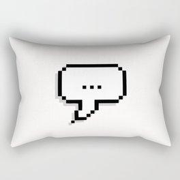 nothing ...literally nothing Rectangular Pillow