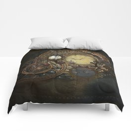 Steampunk Clocks Comforters