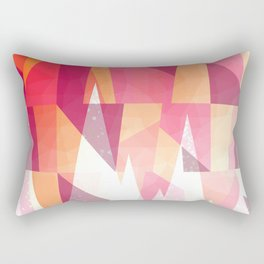 Abstract Geometric Mountains Design Rectangular Pillow