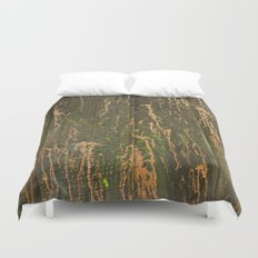 Fence on Copper Street Duvet Cover