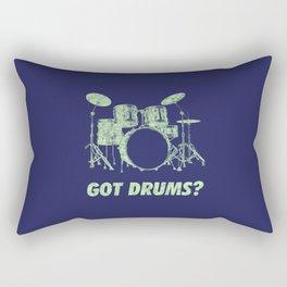 Got Drums Funny Drums Vintage Drummer Distressed Rectangular Pillow