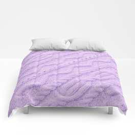 Lavender Purple Cableknit Sweater Comforters