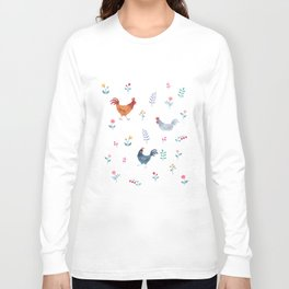 Little Hens (ivory) Long Sleeve T-shirt