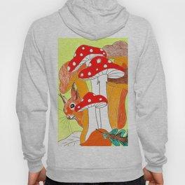 Squirrel & mushrooms Hoody