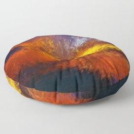 Eruption Pointillist Abstract Floor Pillow