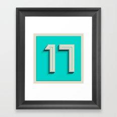 365 Days of Type - 17 Framed Art Print