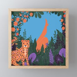 Danger in Paradise Framed Mini Art Print