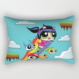 The Power Nyan Girl Rectangular Pillow