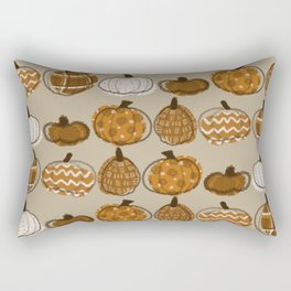 Pumpkin Party in Almond Rectangular Pillow