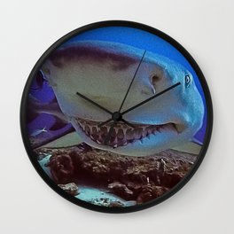 Snooty Shark Portrait Wall Clock