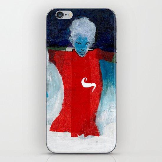 woman in the wind iPhone & iPod Skin
