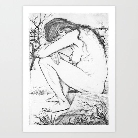 Sorrow (After Vincent Van Gogh)  Art Print