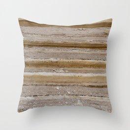 Natural desert sand rocks texture background Marine sedimentary rocks Throw Pillow