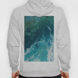 Ocean View, abstract acrylic fluid painting Hoody