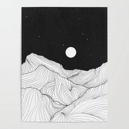 Lines in the mountains II Poster