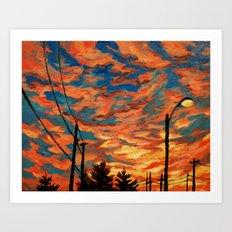 Street Meets Sky  Art Print