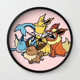 Pokémon - Number 133, 134, 135 and 136 Wall Clock