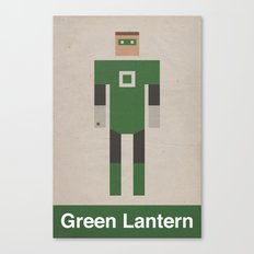Retro Green Lantern Canvas Print