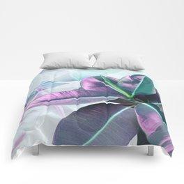 Violet Tropical Plant Comforters