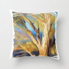 wacom textural study / tree Throw Pillow