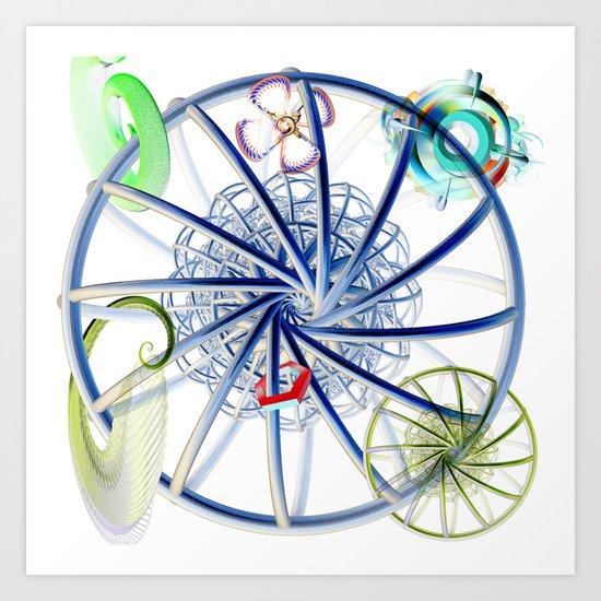 Sick Cycle Carousel Art Print