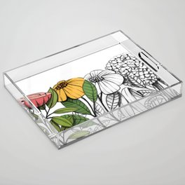 First summer blooms Acrylic Tray