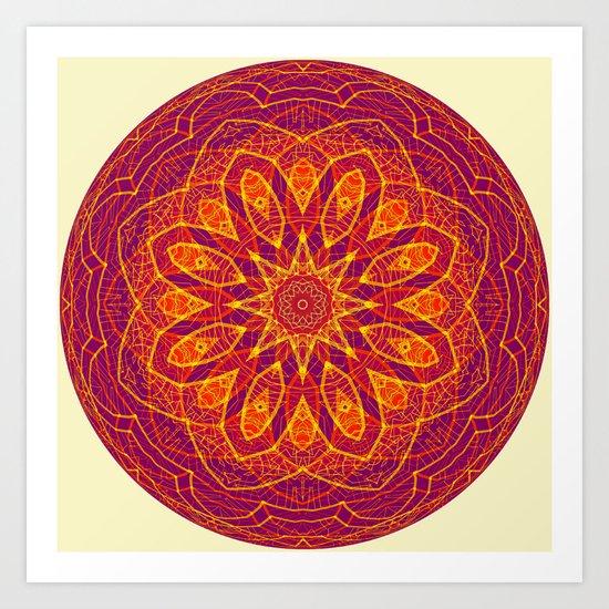 Kaleidoscope Sphere Art Print