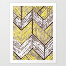 SHORELINE CHEVRONS (2 of 3) Art Print