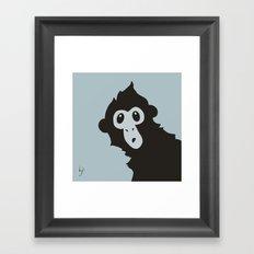 Spider Monkey - Peekaboo! Framed Art Print