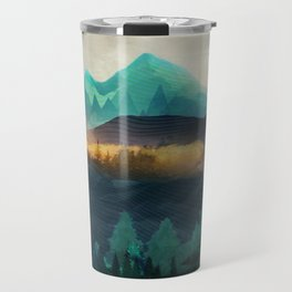 Green Wild Mountainside Travel Mug