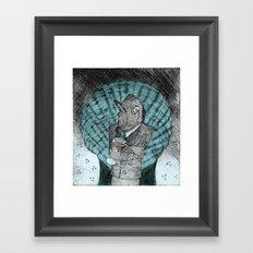Smells like fish Framed Art Print