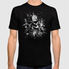 Storm Trooper (white) - Star Wars Mens Fitted Tee Black LARGE