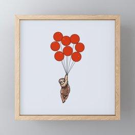 I Believe I Can Fly Sloth Framed Mini Art Print