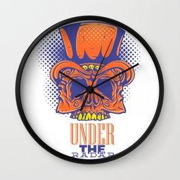 Under the radar  - skeleton Wall Clock