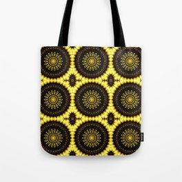 Sunflower Manipulation Grid 2 Tote Bag