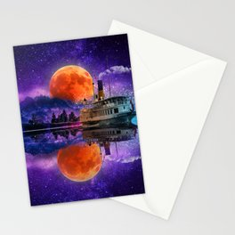 River Boat Fantasy Stationery Cards