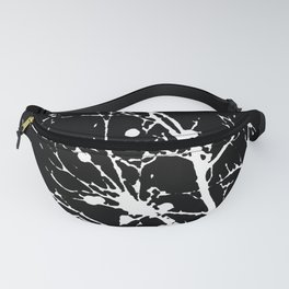 Black and White Foliage Fanny Pack