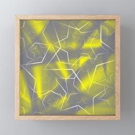 Crossing gray waves of light from flowing yellow stars on the fibers of the veil with dark, sparkl Framed Mini Art Print