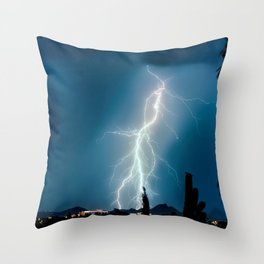 Glowing Static Charm Throw Pillow