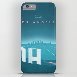 Vintage Los Angeles Travel Poster iPhone Case