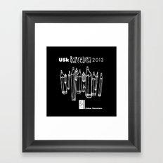 Urban Sketchers USk BCN 2013 Framed Art Print