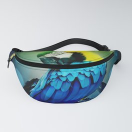 Macaw on branch Fanny Pack