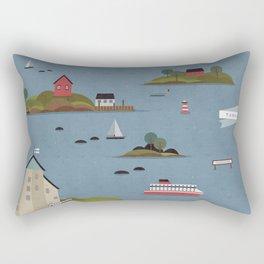 Turku Archipelago Rectangular Pillow