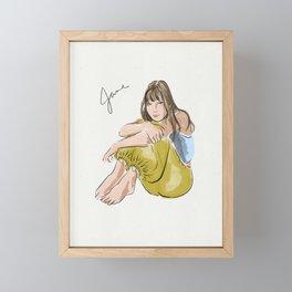 Jane Birkin Framed Mini Art Print