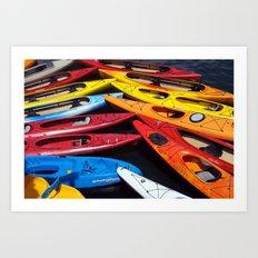 Kayaks Art Print