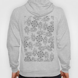 Hand painted black white abstract floral mandala Hoody