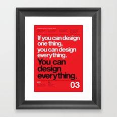 Massimo Forever 04 Framed Art Print