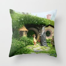 Unwelcome Company Throw Pillow