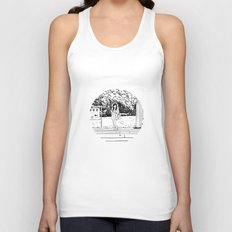 waiting for the train Unisex Tank Top