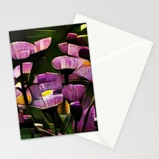 Abstract Wldflowers Stationery Cards